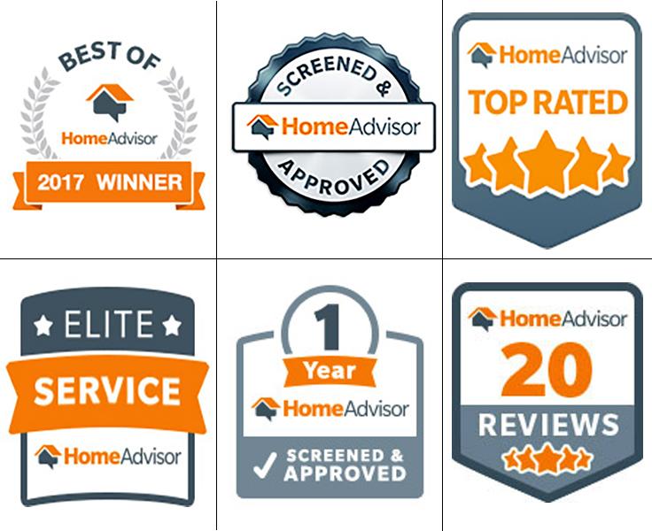 Home Advisor Badges - Four Hands Masonry and Paving